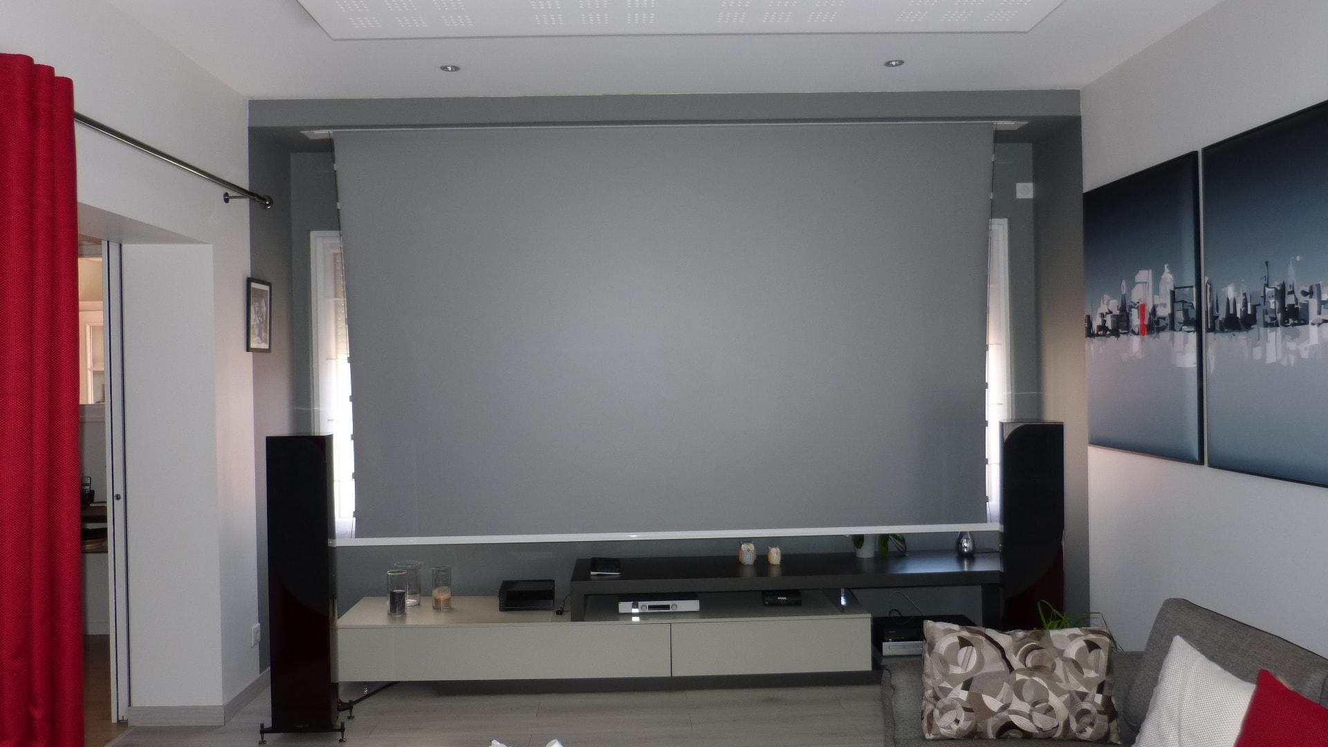 Comment Cacher Fils Tv Murale comment installer un vidéoprojecteur dans un salon ? - home